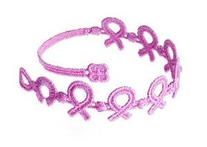Braccialetti Cruciani fiocco rosa per il cancro al seno