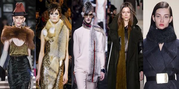 Sciarpe di pelliccia e boa inverno 2014