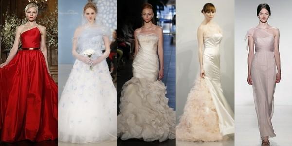 Abiti sposa 2016 tendenze vestiti da sposa primavera estate 2014 abiti colorati