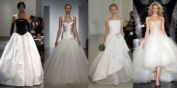 Abiti sposa 2016 tendenze vestiti da sposa primavera estate 2014 ampie gonne