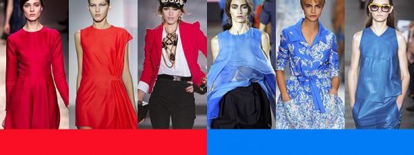 Tendenze moda primavera estate 2014 Colori moda donna rosso blu