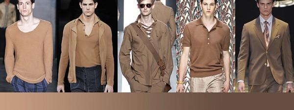 Tendenze moda primavera estate 2014 Colori moda uomo cioccolato