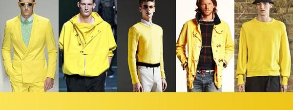 Tendenze moda primavera estate 2014 Colori moda uomo giallo