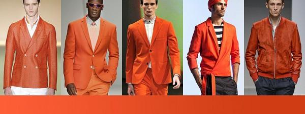 Tendenze moda primavera estate 2014 Colori moda uomo mandarino