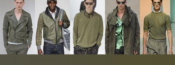 Tendenze moda primavera estate 2014 Colori moda uomo olive
