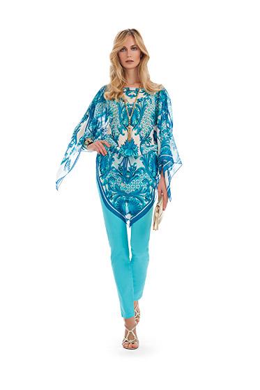 Blusa fulard Luisa Spagnoli primavera estate 2014