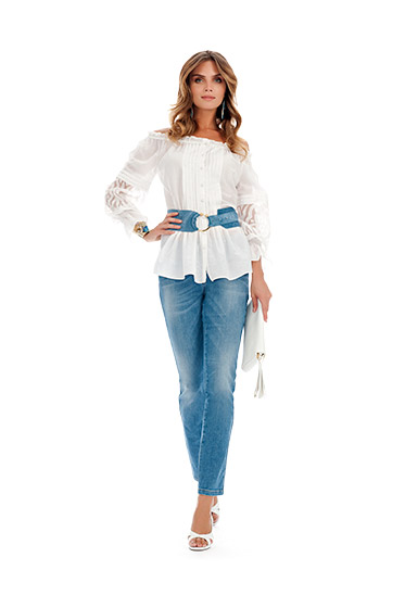 Camicia bianca Luisa Spagnoli primavera estate 2014