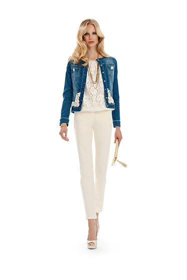 Giacca jeans Luisa Spagnoli primavera estate 2014