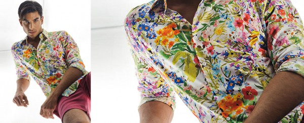 Nara Camicie primavera estate 2016 camica a riori uomo