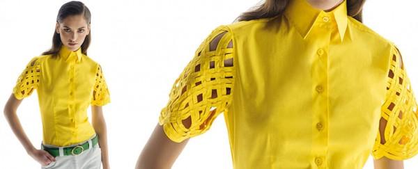 Nara Camicie primavera estate 2016 camicia maniche pizzo donna
