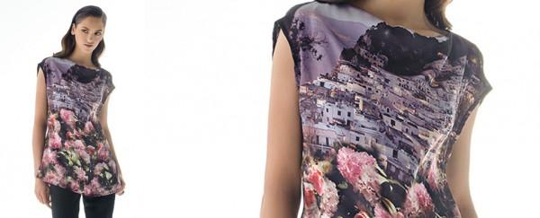 Nara Camicie primavera estate 2016 camicia stampa paesagio