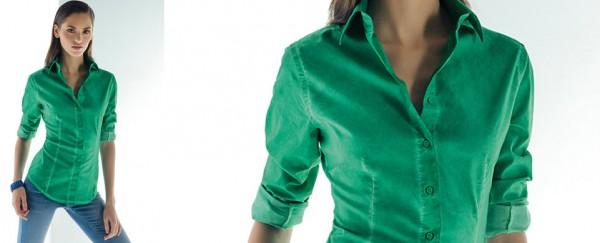 Nara Camicie primavera estate 2016 camicia verde smeraldo