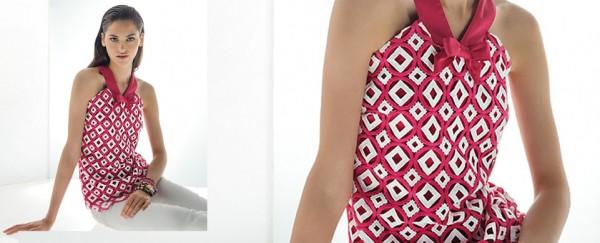 Nara Camicie primavera estate 2016 top con fiocco donna