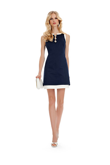 Vestito blu notte Luisa Spagnoli primavera estate 2014