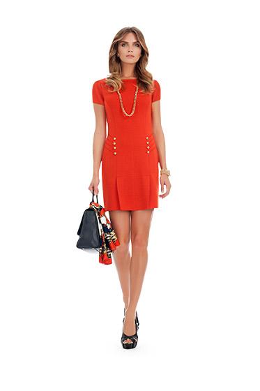 Vestito rosso Luisa Spagnoli primavera estate 2014