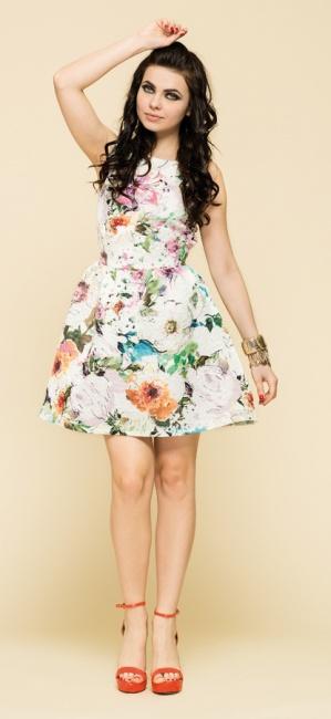 Abito fiori artigli primavera estate 2014 moda con stile - Fiori da giardino primavera estate ...