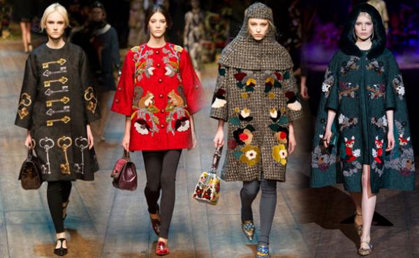 Cappotti Dolce & Gabbana autunno inverno 2014 2015