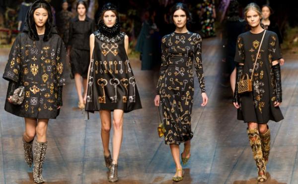 b6ef5d4fd4 Collezione Dolce & Gabbana autunno inverno 2014 2015   Moda con ...