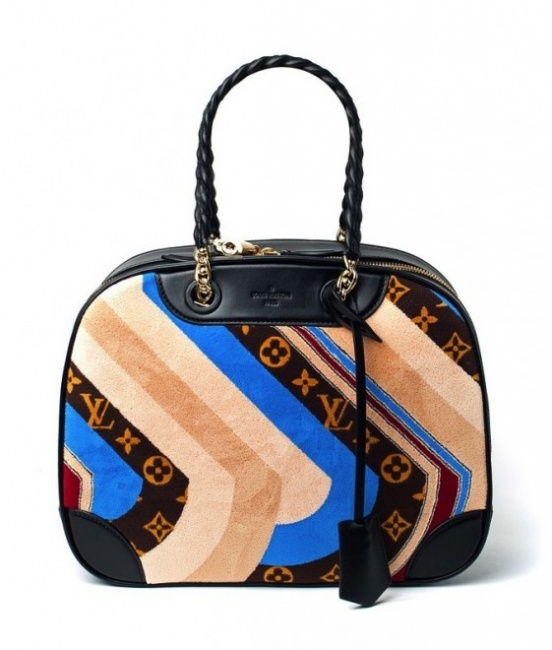 Louis Vuitton autunno inverno 2014 2015 Multicolor Monogram Canvas Suede Bowling Bag
