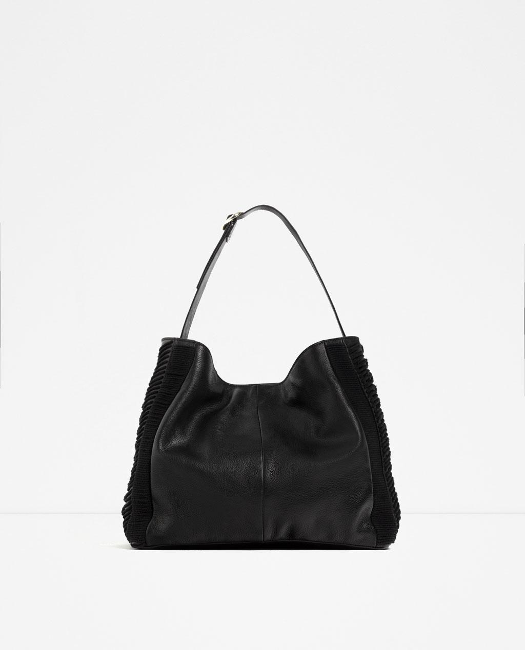 Borse Primavera Estate 2016 : Zara borse primavera estate borsa nera moda con