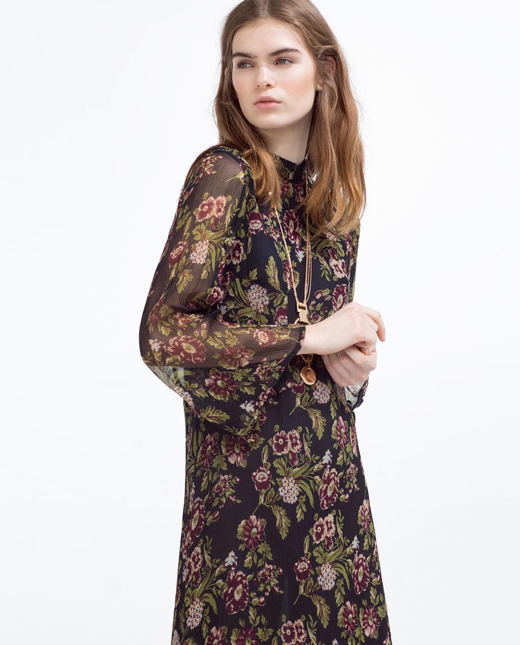 Zara primavera estate 2016 abito fiori moda con stile online - Fiori da giardino primavera estate ...
