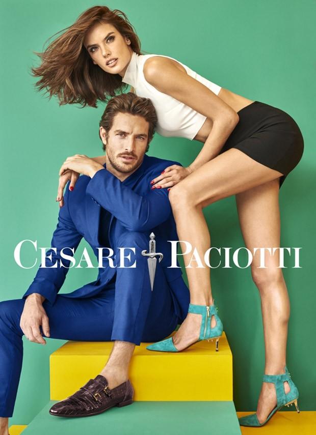 Alessandra Ambrosio per Cesare Paciotti primavera estate 2016 sandali