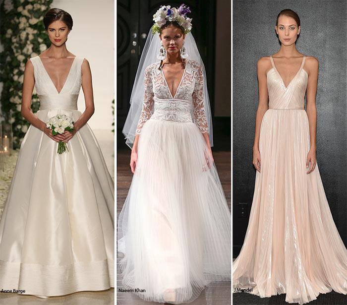 Scollature a V nei abiti da sposa 2016