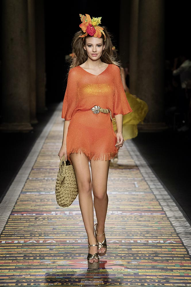 Fisico Vestito In Juta Arancione