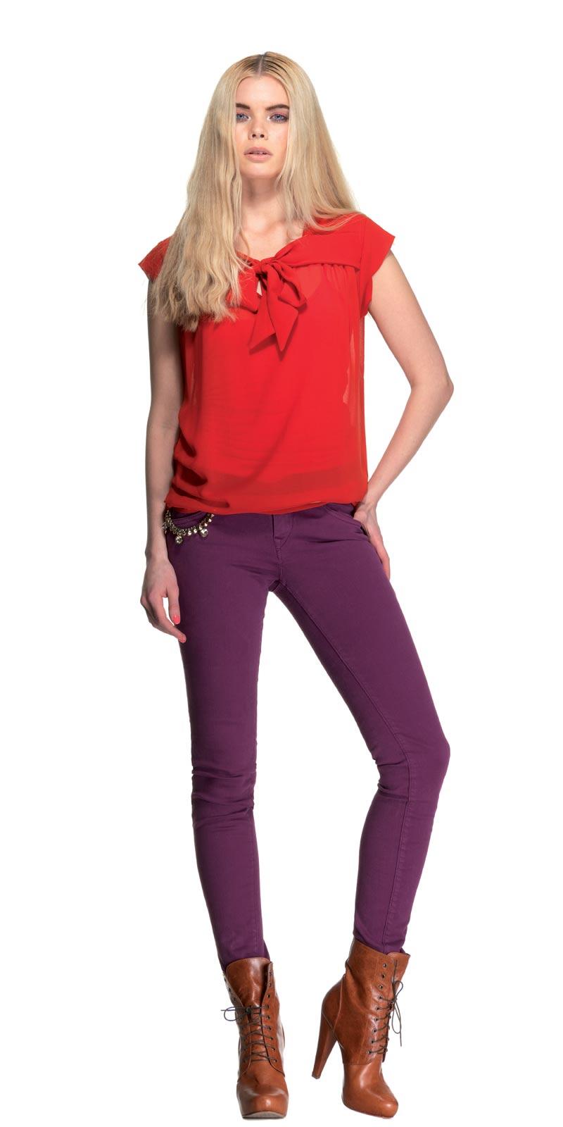 Camicie rosse con granci fiocchi Fornarina autunno inverno 2013 2014