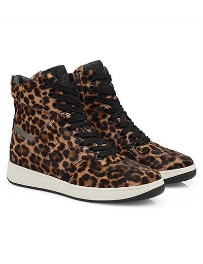 High-Top Sneaker in cavallino animalier Hogan autunno inverno 2013 2014