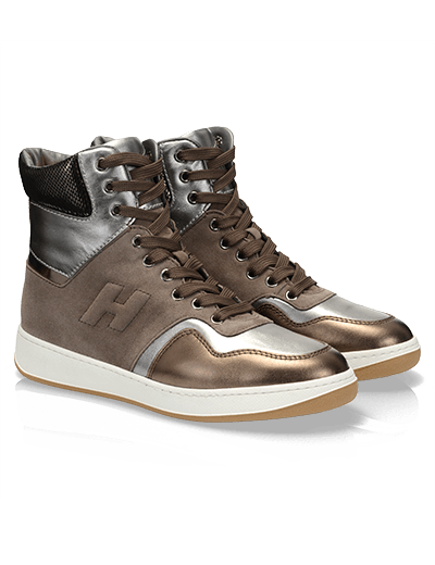 High-Top sneaker in pelle metallizzata Hogan autunno inverno 2013 2014