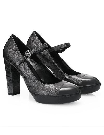 Mary Jane in pelle metallizzata Hogan autunno inverno 2013 2014