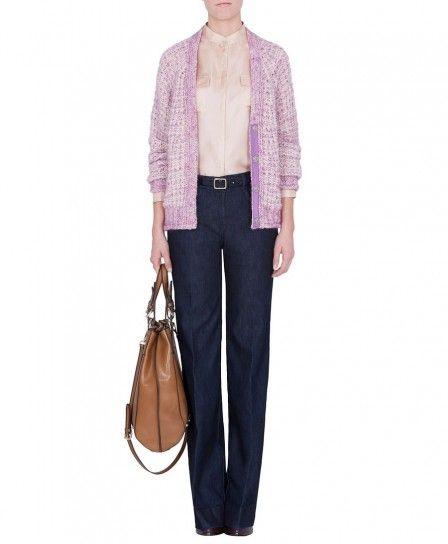 Camicia in seta rosa Max & Co autunno inverno 2013 2014