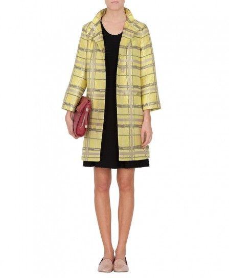 Cappotto in jacquard giallo Max & Co autunno inverno 2013 2014