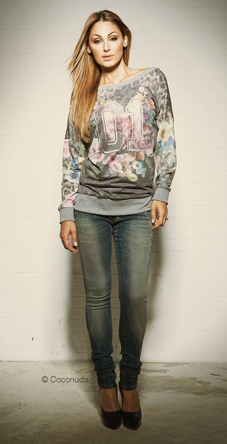 Felpa e jeans Coconuda catalogo autunno inverno 2013 2014