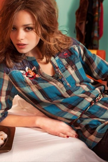 Camicia con fantasia tartan Desigual autunno inverno