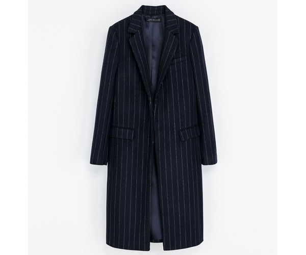 Cappotto blu Zara autunno inverno 2013 2014
