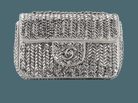 Clutch argento borse Chanel autunno inverno 2013 2014