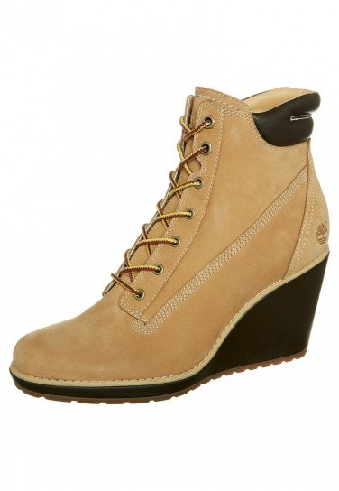 Francesine in suede con zeppa Timberland