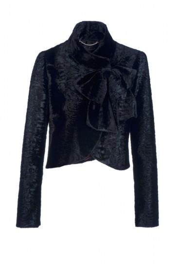 Giacca in velluto nero Luisa Spagnoli autunno inverno 2013 2014