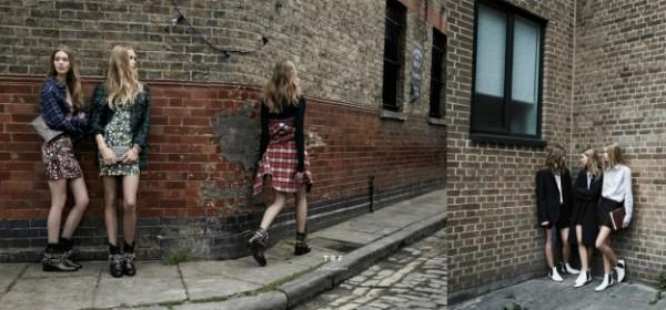 Look Zara stampe floreali e scozzesi