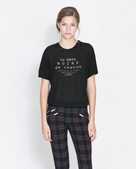 Maglietta con scritta Zara