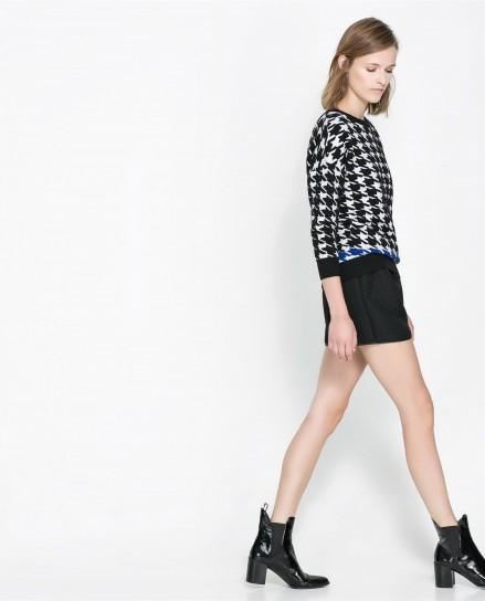 Maglione pied de poule Zara