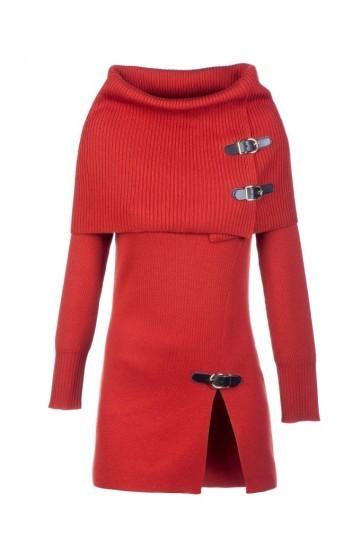 Maglione rosso Luisa Spagnoli autunno inverno 2013 2014