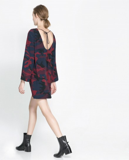 Minidress mimetico di Zara