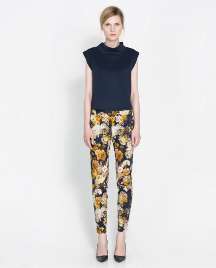 Pantalone fiorato di Zara