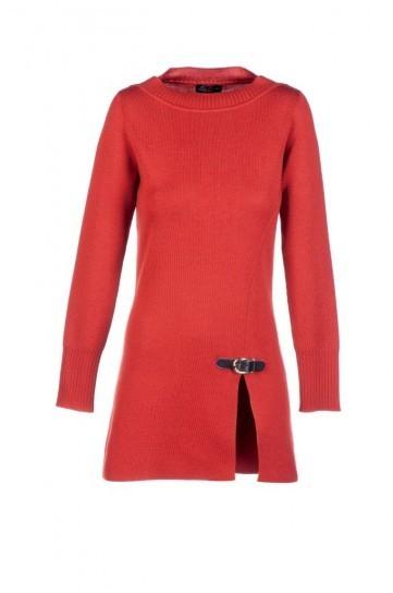 Vestito rosso Luisa Spagnoli autunno inverno 2013 2014