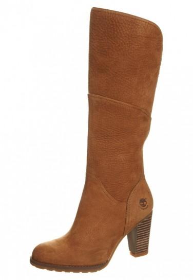 Stivali marroni con tacco Timberland