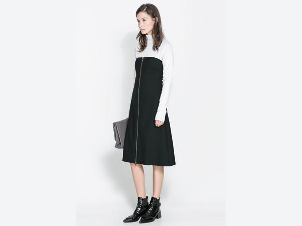 Vestito bianco nero Zara