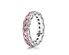 Fedina con pietre rosa Pandora